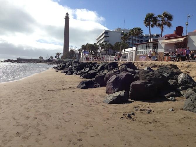 playa maspalomas temporal