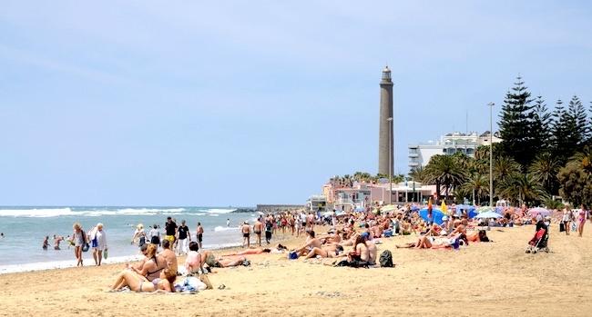 playa maspalomas hoy